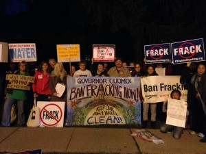Colorful and Emotionally Engaged Fracktivists last night